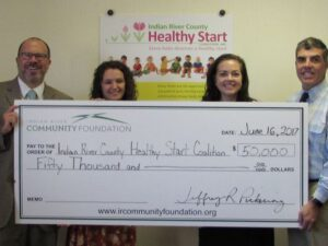 Indian River Community Foundation Gives $50,000 to Healthy Start