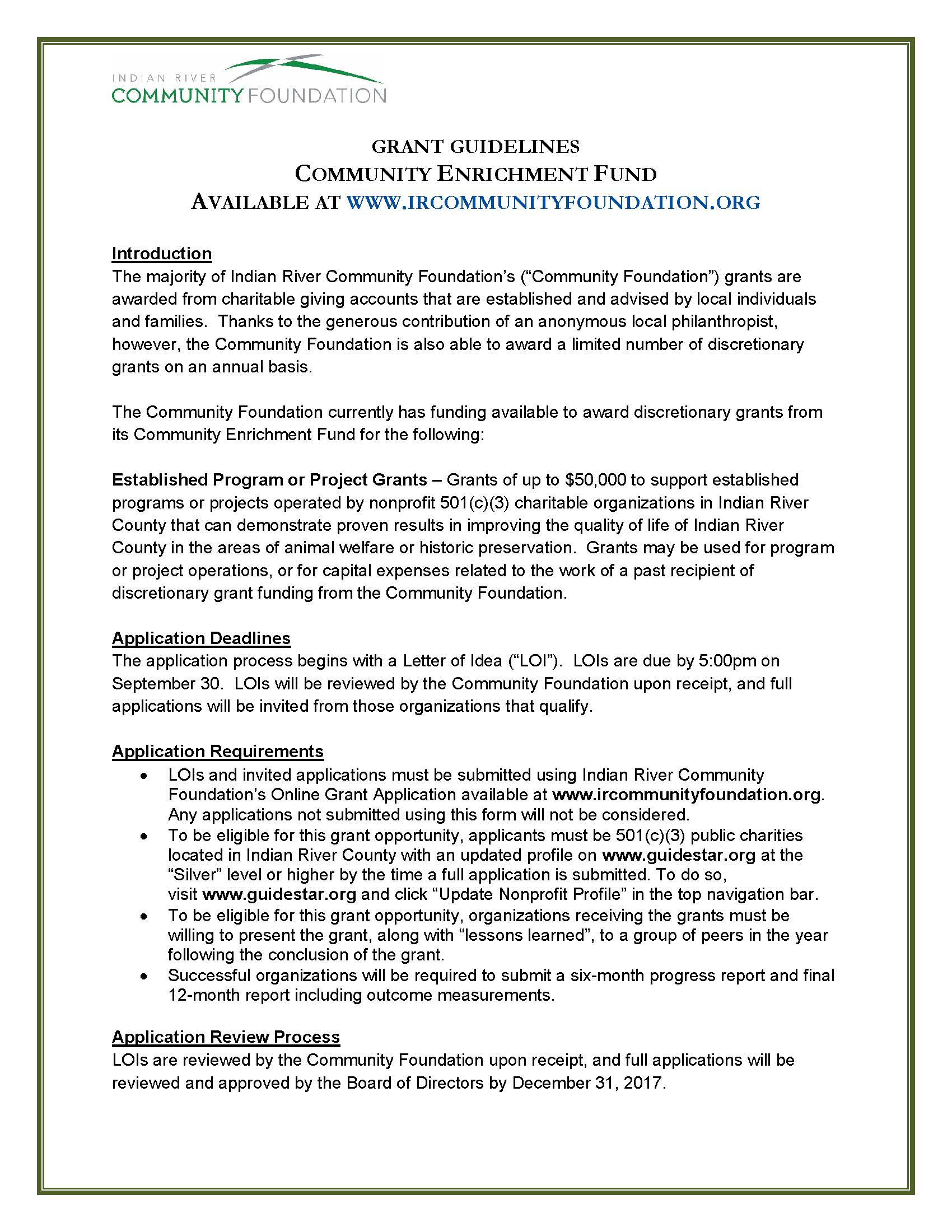 GUIDELINES Competitive Grants Fall 2017_Page_1 - Indian River