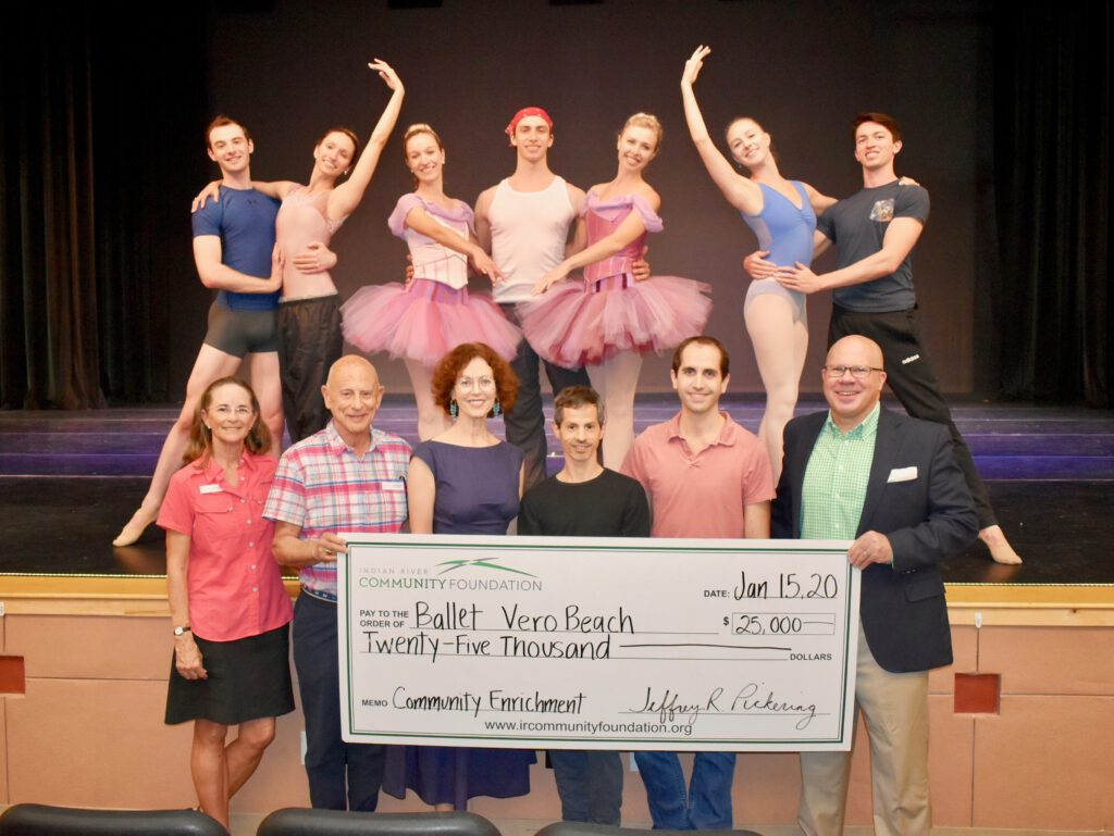 Ballet Vero Beach is presented with $25,000 check from IRCF's Community Enrichment Fund.