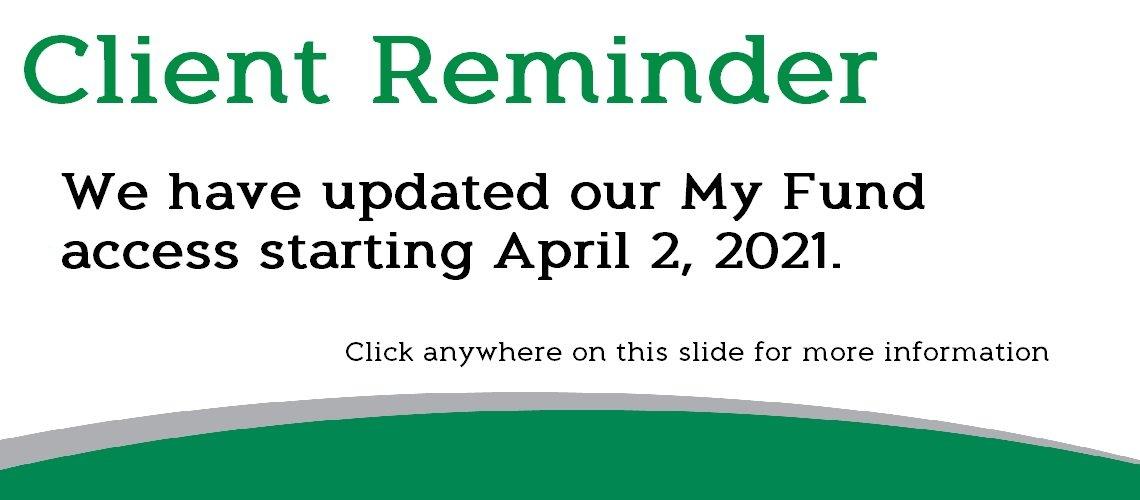 My Fund Client Update